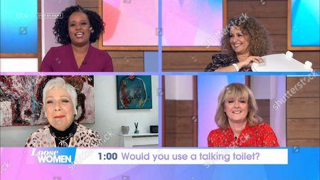 Charlene White, Nadia Sawalha, Denise Welch and Jane Moore