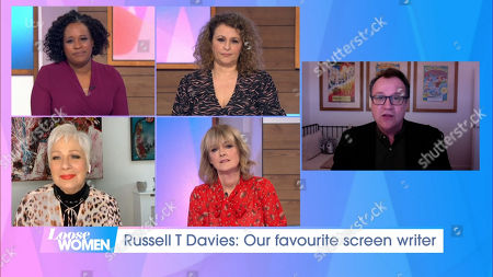 Stock Picture of Charlene White, Nadia Sawalha, Denise Welch, Jane Moore and Russell T Davies