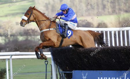 Golden Whisky and James Bowen win the C.G. Rickards Handicap Chase at Ludlow.