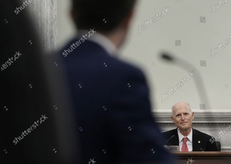 Senator Rick Scott speaks during a Senate Commerce, Science and Transportation Committee confirmation hearing for U.S. Secretary of Transportation nominee Pete Buttigieg in Washington, D.C., USA, 21 January 2021. Buttigieg, is pledging to carry out the administration's ambitious agenda to rebuild the nation's infrastructure, calling it a 'generational opportunity' to create new jobs, fight economic inequality and stem climate change.