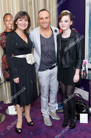 Lorraine Kelly, Mark Heyes and Rosie Kelly (Lorraine's daughter)
