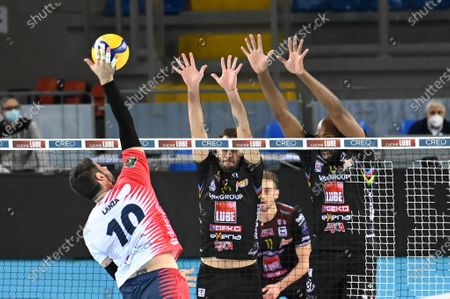 Stock Picture of Spike of Filippo Lanza (Vero Volley Monza)