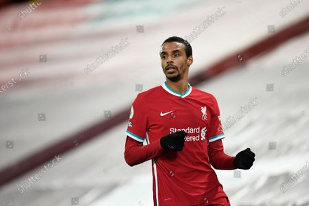 Liverpool's Joel Matip during the English Premier League soccer match between Liverpool and Burnley in Liverpool, England