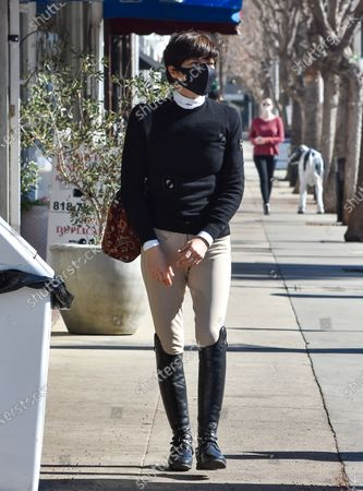 Selma Blair is seen out and about with a coffee