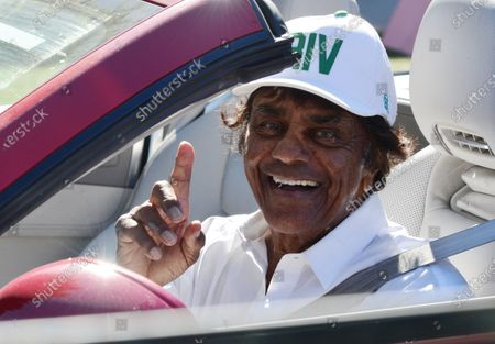 Editorial picture of Exclusive - Johnny Mathis out and about, Brentwood, Los Angeles, California, USA - 21 Jan 2021