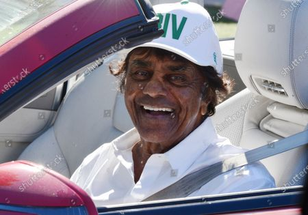 Editorial photo of Exclusive - Johnny Mathis out and about, Brentwood, Los Angeles, California, USA - 21 Jan 2021