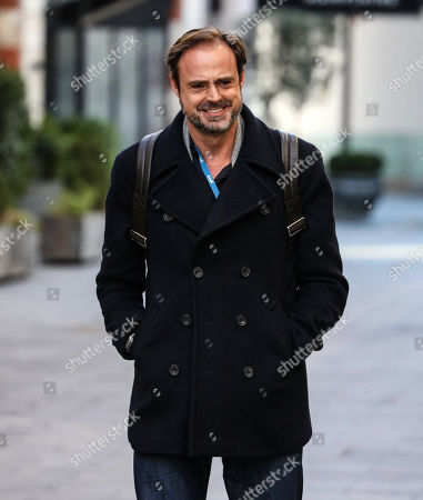 Jamie Theakston seen departing the Global Radio Studios