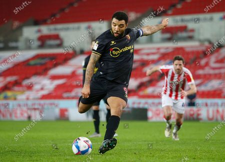 Stock Picture of Troy Deeney of Watford  scores the first goal from the penalty spot