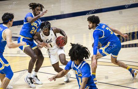 Berkeley, CA U.S.A. California guard Joel Brown (1) drives to the basket during the NCAA Men's Basketball game between UCLA Bruins and the California Golden Bears 57-61 lost at Hass Pavilion Berkeley Calif. Thurman James / CSM