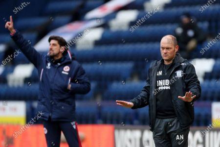 Reading manager Velijko Paunovic and Preston North End manager Alex Neil