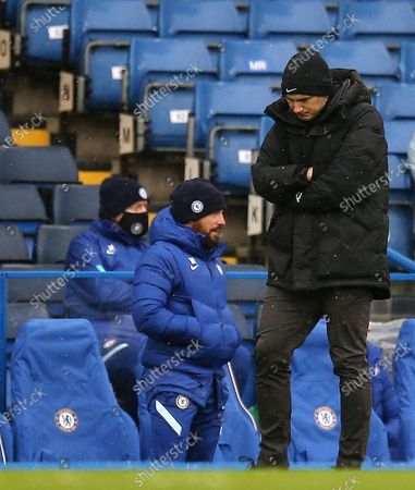 Frank Lampard manager of Chelsea reacts