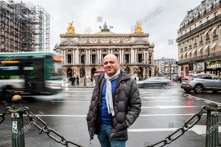 """Egyptian activist Tamim Heikal, poses for a photograph in Paris, France, 13 January 2021. The 42 years old Cairo born activist took part in the Egypt uprising protests from the first day on 25 January 2011, and  stayed in the initial 18 days movement that led to the departure of the then president Hosni Mubarak, then the years after that through political turmoil, elections and changes as a general coordinator for one of the some 46 revolutionary groups which ended up winning four seats in the first post-uprising parliament and in other political groups in different capacities. In 2015 he established a social media company """"Journas"""" aiming at supporting freedom of expression in the Arab world, one year later he left Egypt due to security concerns and moved to France in 2017 where he continues working on Human Rights issues in the Arab World."""