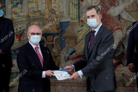 King Felipe VI attends audiences, El Pardo Palace, Madrid