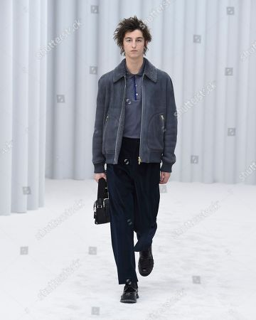 Editorial picture of Paul Smith show, Runway, Autumn Winter 2021, Paris Fashion Week Men's, France - 22 Jan 2021