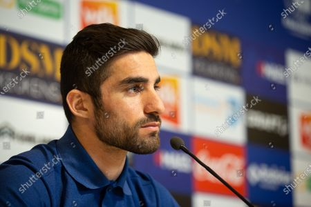 Gent's Milad Mohammadi pictured during a press conference of Belgian soccer team KAA Gent, Friday 22 January 2021 in Gent, ahead of day 21 of the 'Jupiler Pro League' Belgian soccer championship.