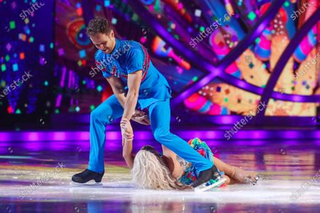 Stock Photo of Billie Faiers and Mark Hanretty - Skating to 'Spice Up Your Life'