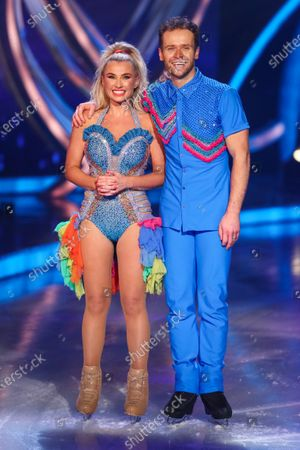 Stock Picture of Billie Faiers and Mark Hanretty - Skating to 'Spice Up Your Life'