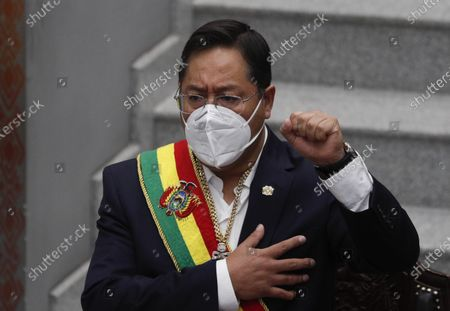 Editorial photo of State of the Nation, La Paz, Bolivia - 22 Jan 2021