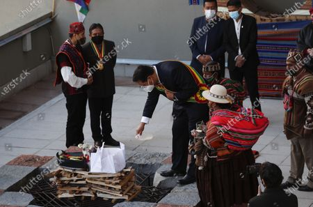 Editorial picture of State of the Nation, La Paz, Bolivia - 22 Jan 2021