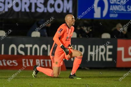 Wolverhampton Wanderers goalkeeper John Ruddy takes the knee during the FA Cup match between Chorley and Wolverhampton Wanderers at Victory Park, Chorley