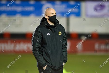 Wolverhampton Wanderers goalkeeper John Ruddy walking the pitch before tonights match during the FA Cup match between Chorley and Wolverhampton Wanderers at Victory Park, Chorley