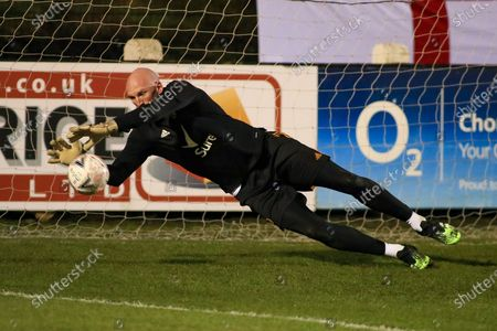 Wolverhampton Wanderers goalkeeper John Ruddy in the pre match warm up during the FA Cup match between Chorley and Wolverhampton Wanderers at Victory Park, Chorley