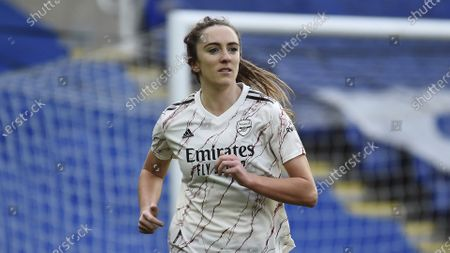 Arsenal's Lisa Evans during the English Women's Super League soccer match between Reading and Arsenal at the Madejski Stadium in Reading, England