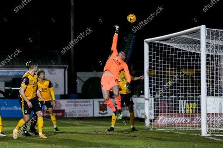 John Ruddy of Wolverhampton Wanderers makes a finger tip save