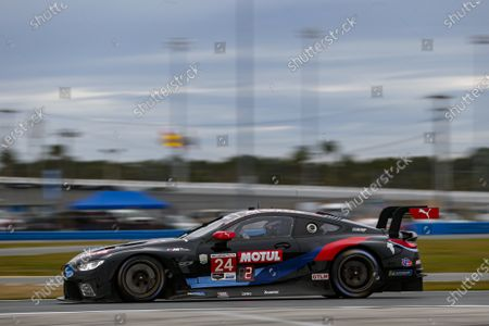 DAYTONA INTERNATIONAL SPEEDWAY, UNITED STATES OF AMERICA - JANUARY 22: #24: BMW Team RLL BMW M8 GTE, GTLM: John Edwards, Jesse Krohn, Augusto Farfus, Marco Wittmann during the Roar Before the 24 at Daytona International Speedway on January 22, 2021 in Daytona International Speedway, United States of America. (Photo by Jake Galstad / LAT Images)