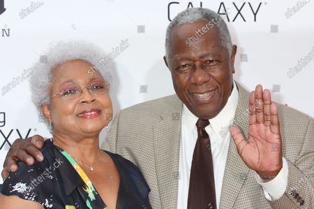 """Hank Aaron and wife Billye Aaron attend the premiere of """" Lee Daniels ' The Butler"""" at The Ziegfeld in New York City on August 5, 2013."""