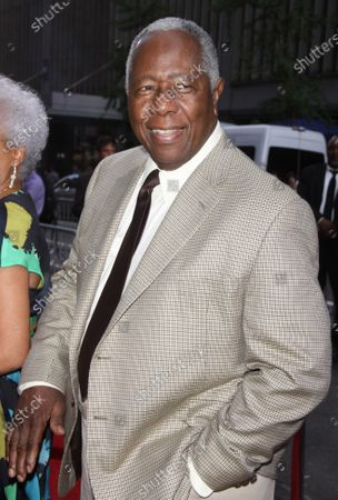 **FILE PHOTO** Hank Aaron at the New York premiere of Lee Daniels ' 'The Butler' at the Ziegfeld in New York City. August 5, 2013.
