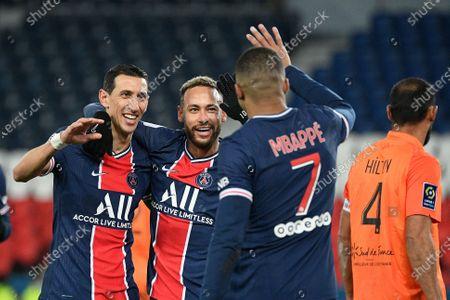 Editorial picture of Paris Saint Germain (PSG) vs Montpellier, French L1 football match, Parc des Princes stadium, Paris, France - 22 Jan 2021