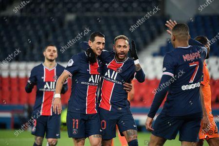 Editorial image of Paris Saint Germain (PSG) vs Montpellier, French L1 football match, Parc des Princes stadium, Paris, France - 22 Jan 2021