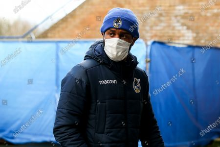 Mark Little of Bristol Rovers arrives at Oxford United
