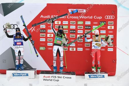 Editorial photo of Ski Cross final at the FIS Freestyle Ski World Cup, Idre, Sweden - 23 Jan 2021