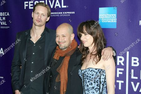 Alexander Skarsgard, Tarik Saleh and Juliette Lewis