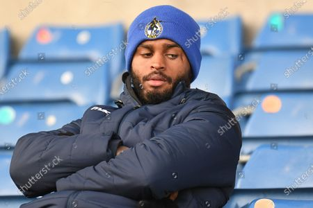 Stock Picture of Bristol Rovers defender Mark Little (2) sits in the stand with his arms folded during the EFL Sky Bet League 1 match between Oxford United and Bristol Rovers at the Kassam Stadium, Oxford