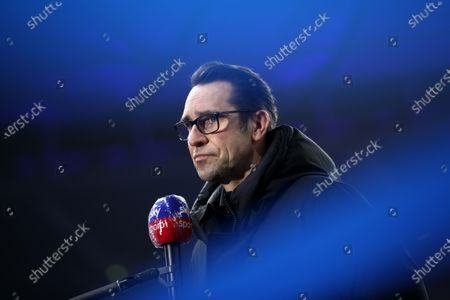 Stock Photo of Hertha's sports director Michael Preetz talks to the media prior to the German Bundesliga soccer match between Hertha BSC and Werder Bremen in Berlin, Germany, 23 January 2021.