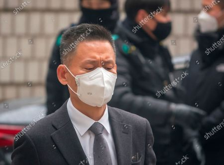 Hwang Sung-Soo, former senior executive of Samsung Electronics, arrives at the Seoul High Court to attend a retrial of a bribery case involving former South Korean President Park Geun-Hye. Samsung Vice Chairman Lee Jae-Yong was taken into custody after being sentenced by the court at the retrial to two years and six months in prison. Lee had been charged with bribing former President Park to help him inherit control of Samsung. Choi Gee-Sung had been indicted as Lee's accomplices and was sentenced to two years and six months in prison.