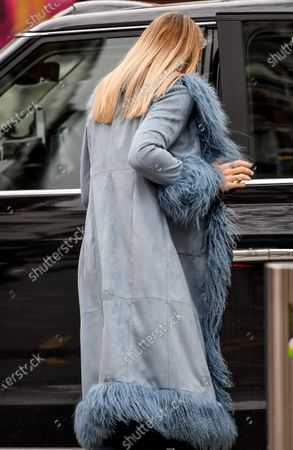 Stock Photo of Vogue Williams departs Global Radio Studios
