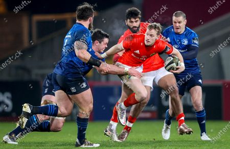 Munster vs Leinster. Munster's Mike Haley is tackled by James Ryan of Leinster