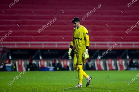 Antwerp's goalkeeper Alireza Beiranvand pictured during a soccer match between Royal Antwerp FC and KV Oostende, Saturday 23 January 2021 in Antwerp, on day 21 of the 'Jupiler Pro League' first division of the Belgian championship.