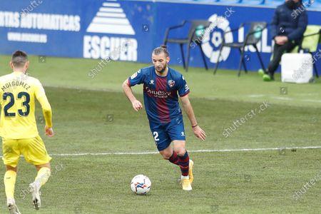 """Gaston Silva (Huesca) - Football / Soccer : Spanish """"La Liga Santander"""" match between SD Huesca 0-0 Villarreal CF at the Estadio El Alcoraz in Huesca, Spain."""