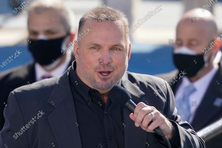 Country singer Garth Brooks performs during the 59th Presidential Inauguration at the U.S. Capitol in Washington