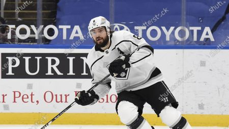 Los Angeles Kings' Drew Doughty (8) in action against the Los Angeles Kings during the third period of an NHL hockey game, in St. Louis