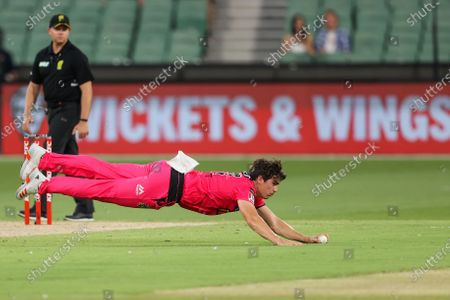 Editorial picture of Hobart Hurricanes vs Sydney Sixers - 24 Jan 2021