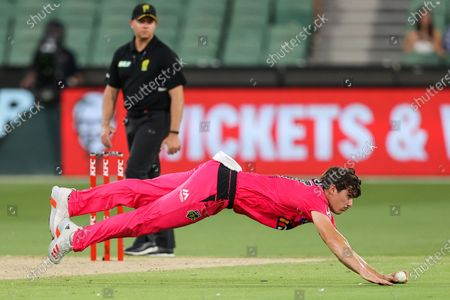 Editorial photo of Hobart Hurricanes vs Sydney Sixers - 24 Jan 2021