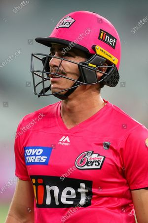 Sean Abbott of the Sydney Sixers walks off after being dismissed during the Hobart Hurricanes vs Sydney Sixers  T20 Big Bash League match at Melbourne Cricket Ground, Melbourne
