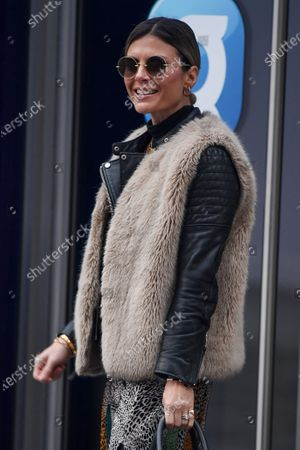 Stock Photo of Zoe Hardman arrives at Global Radio Studios