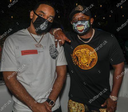 (L-R) Euro and Mack Maine attend DJ Stevie Js birthday celebration at The Urban his birthday